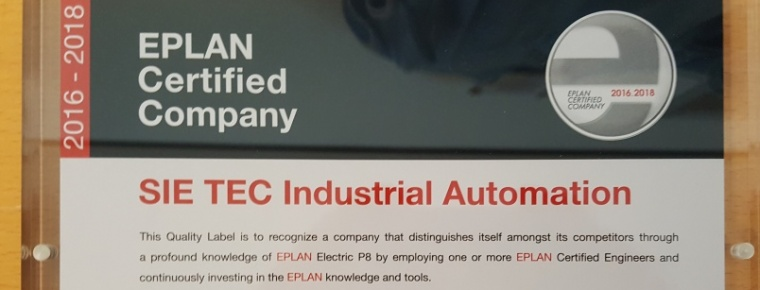 SIETEC EPLAN CERTIFIED COMPANY